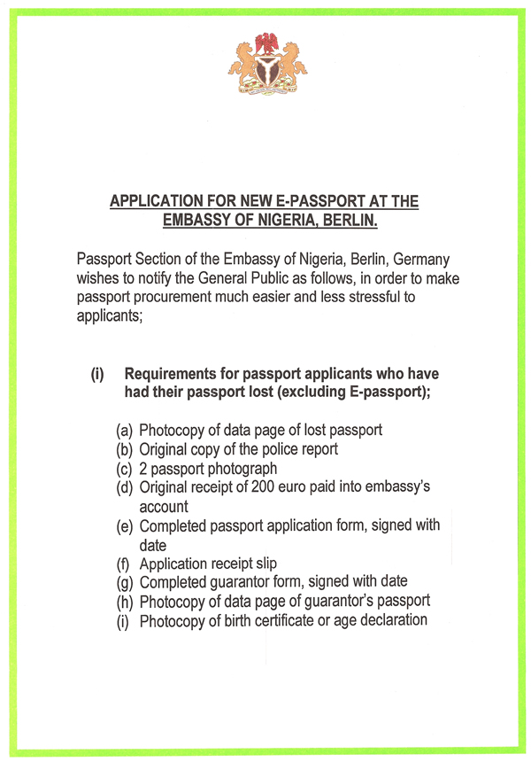 Application For E Passport