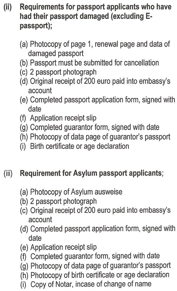 Application For E Passport